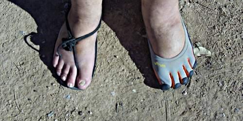 Invisible Shoes vs. Vibram FiveFingers