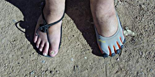 Invisible Shoes vs. Vibram FiveFingers